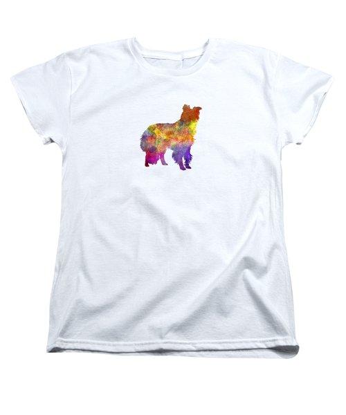 Border Collie In Watercolor Women's T-Shirt (Standard Cut) by Pablo Romero