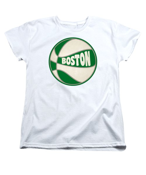 Boston Celtics Retro Shirt Women's T-Shirt (Standard Cut) by Joe Hamilton