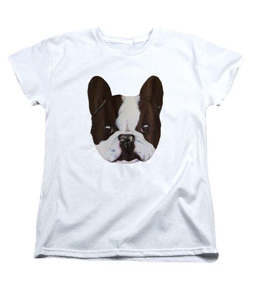 Boston Terrier Women's T-Shirt (Standard Cut) by John Stuart Webbstock