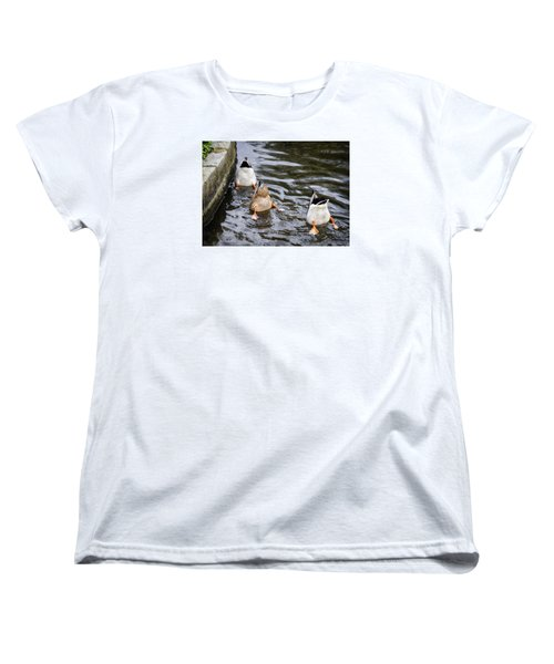 Women's T-Shirt (Standard Cut) featuring the photograph Bottoms Up by Shirley Mitchell