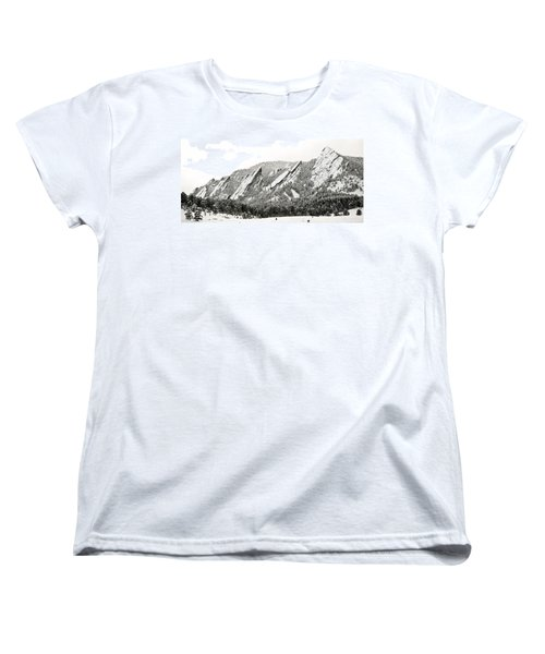 Boulder Flatirons Colorado 1 Women's T-Shirt (Standard Cut) by Marilyn Hunt