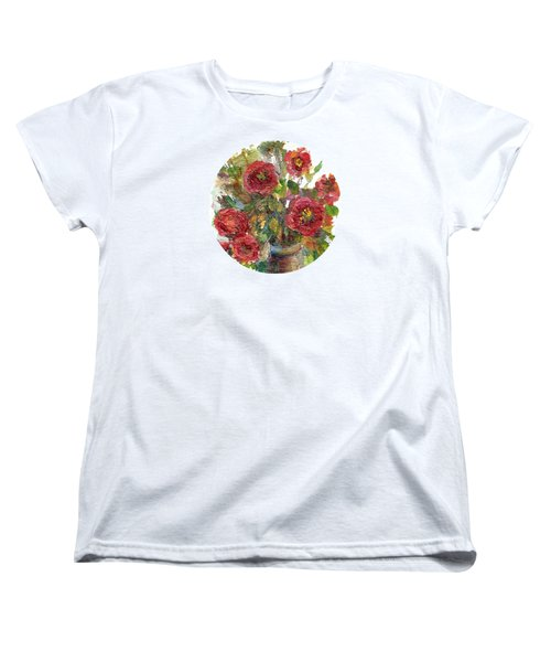 Women's T-Shirt (Standard Cut) featuring the painting Bouquet Of Poppies by Mary Wolf
