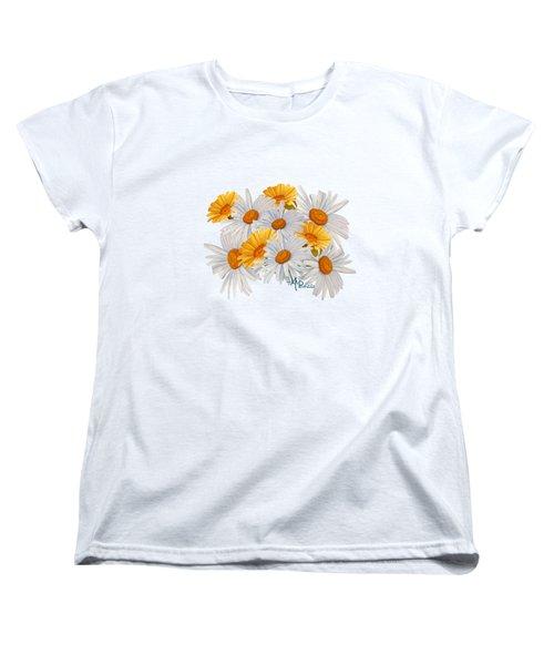 Bouquet Of Wild Flowers Women's T-Shirt (Standard Cut) by Angeles M Pomata