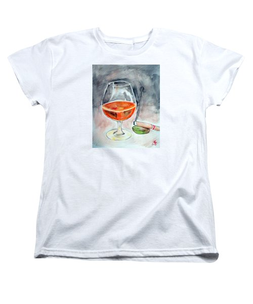 Bourbon And Smoke Women's T-Shirt (Standard Cut) by Loretta Nash