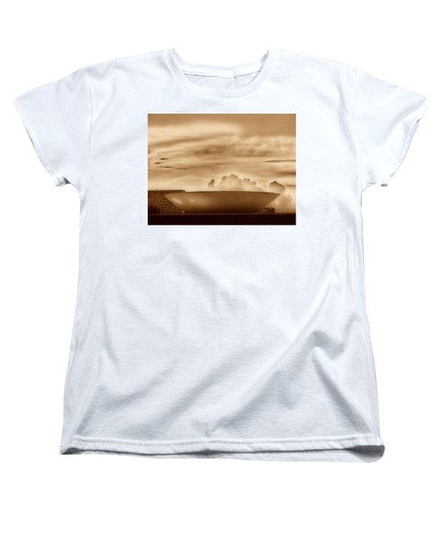 Women's T-Shirt (Standard Cut) featuring the photograph Brasilia In Sepia by Beto Machado