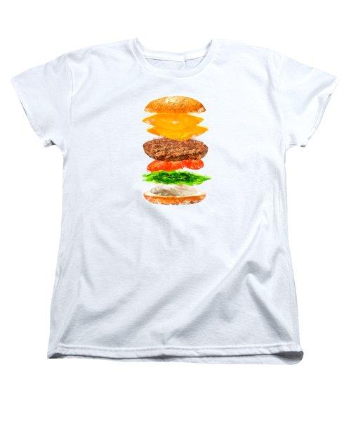Brazilian Salad Cheeseburger Women's T-Shirt (Standard Cut) by Caito Junqueira
