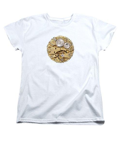 Breaking Apart Clockwork Mechanism Women's T-Shirt (Standard Cut) by Michal Boubin