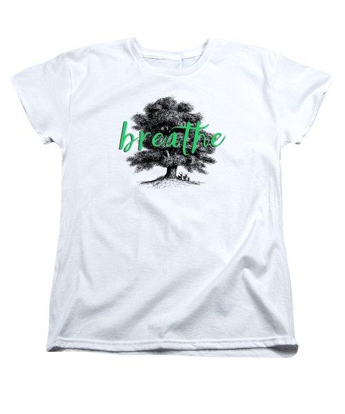Women's T-Shirt (Standard Cut) featuring the photograph Breathe Shirt by Edward Fielding