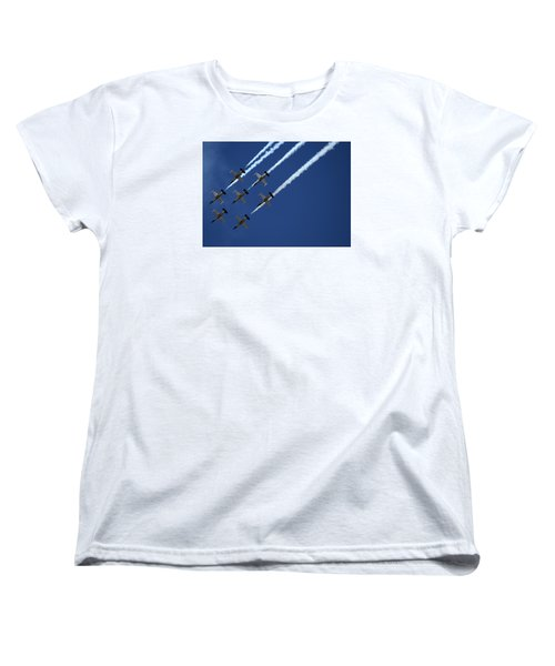Breitling Team Crowd Pleases At Reno Air Races Women's T-Shirt (Standard Cut)