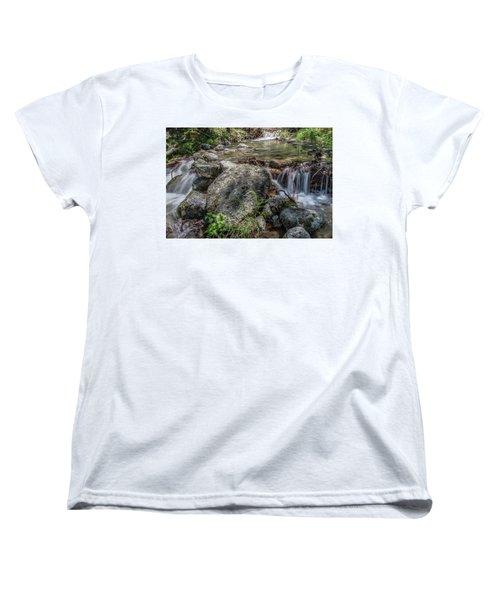 Bridalveil Creek Women's T-Shirt (Standard Cut) by Ryan Weddle