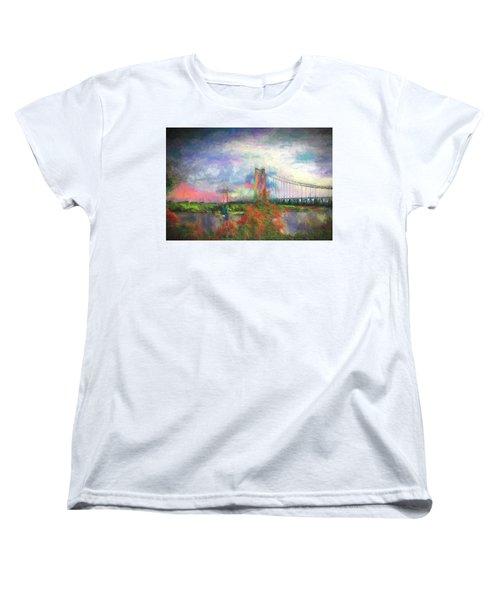 Bridge Blues Women's T-Shirt (Standard Cut) by Terry Cork
