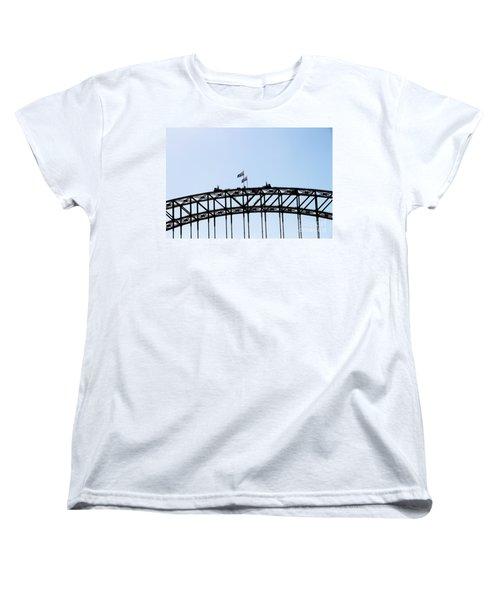 Women's T-Shirt (Standard Cut) featuring the photograph Bridge Walk by Stephen Mitchell