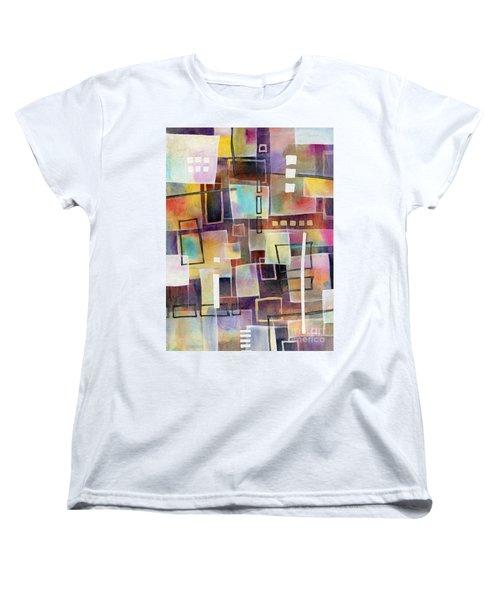 Women's T-Shirt (Standard Cut) featuring the painting Bridging Gaps 2 by Hailey E Herrera