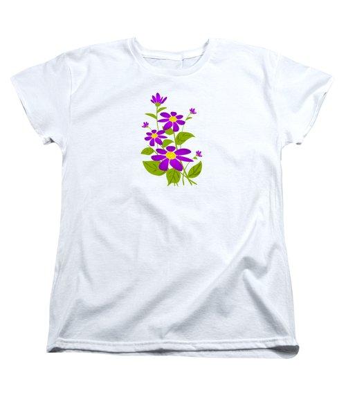 Bright Purple Women's T-Shirt (Standard Cut)