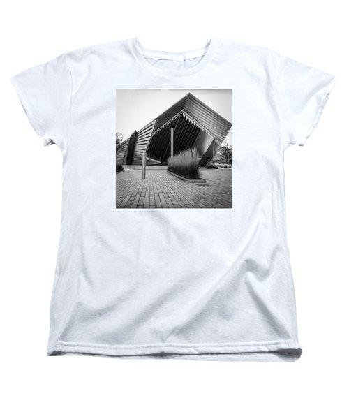 Women's T-Shirt (Standard Cut) featuring the photograph Broad Art Museum by Larry Carr