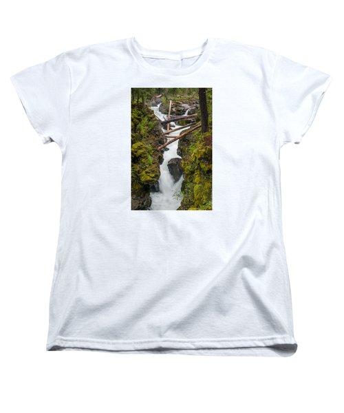 Broiling Rogue Gorge Women's T-Shirt (Standard Cut) by Greg Nyquist
