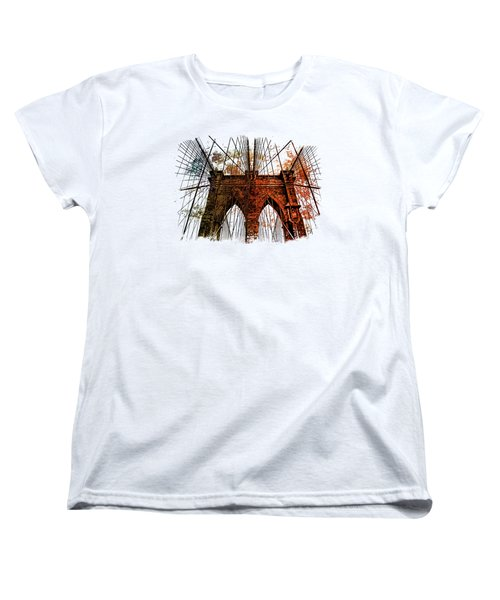 Brooklyn Bridge Art 1 Women's T-Shirt (Standard Cut) by Di Designs