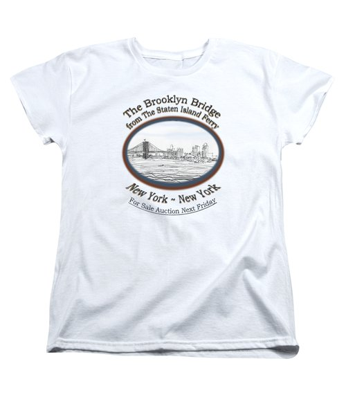 Brooklyn Bridge Women's T-Shirt (Standard Cut) by James Lewis Hamilton
