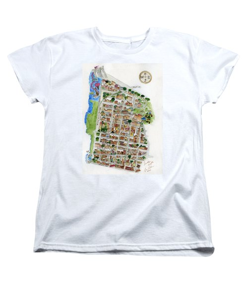 Brooklyn Heights Map Women's T-Shirt (Standard Cut) by AFineLyne