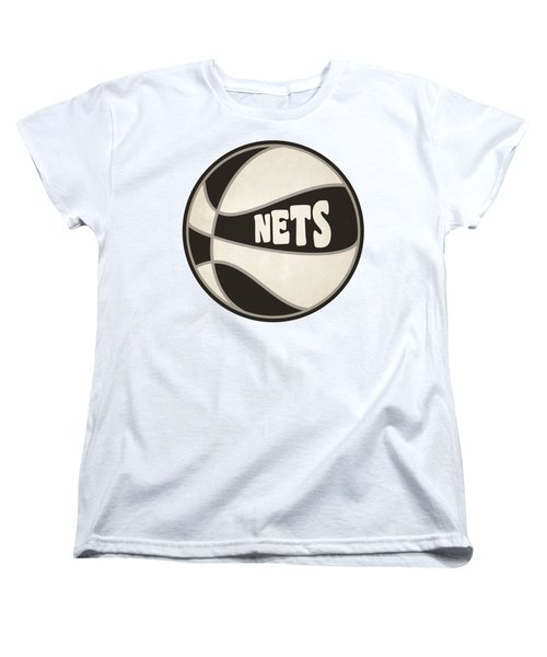 Brooklyn Nets Retro Shirt Women's T-Shirt (Standard Cut) by Joe Hamilton