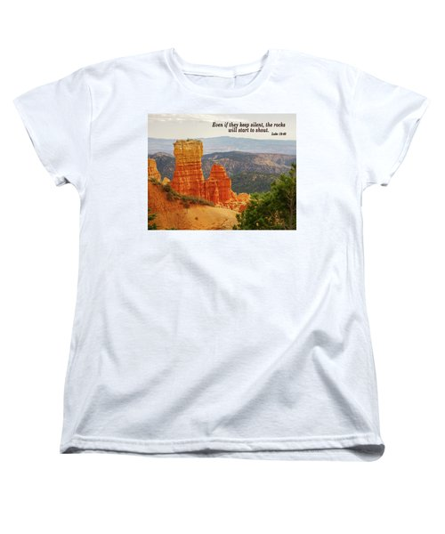 Women's T-Shirt (Standard Cut) featuring the photograph Bryce Canyon by Jim Mathis