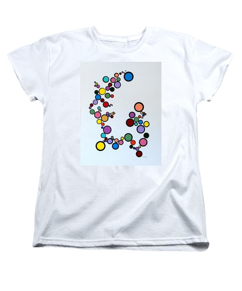 Bubbles2 Women's T-Shirt (Standard Cut) by Thomas Gronowski
