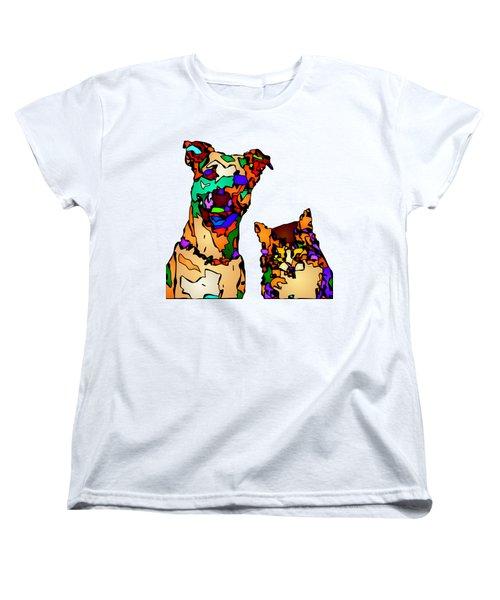 Buddies For Life. Pet Series Women's T-Shirt (Standard Cut) by Rafael Salazar