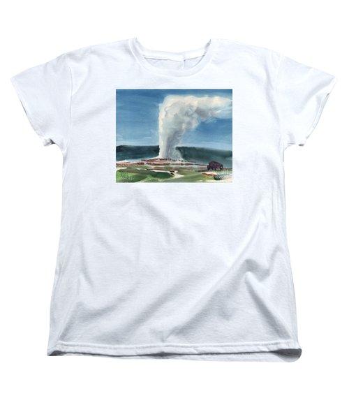 Buffalo And Geyser Women's T-Shirt (Standard Cut) by Donald Maier