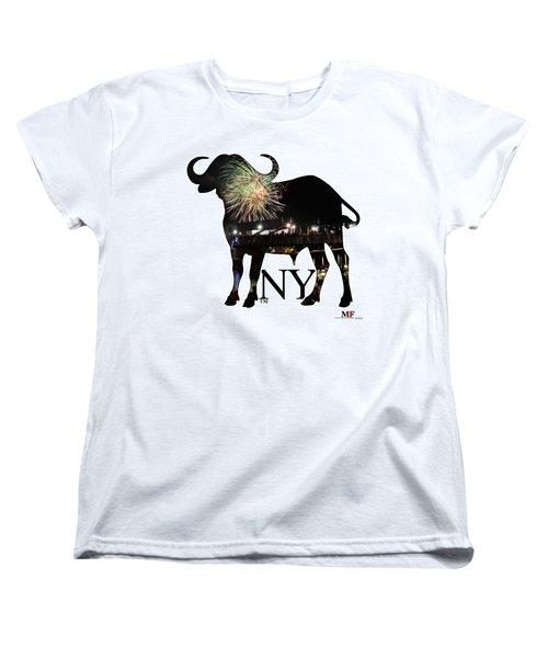 Buffalo Ny Canalside 4th Of July Women's T-Shirt (Standard Cut) by Michael Frank Jr