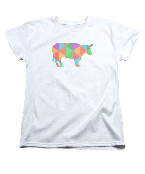 Bull Cow Triangles Women's T-Shirt (Standard Cut) by Edward Fielding