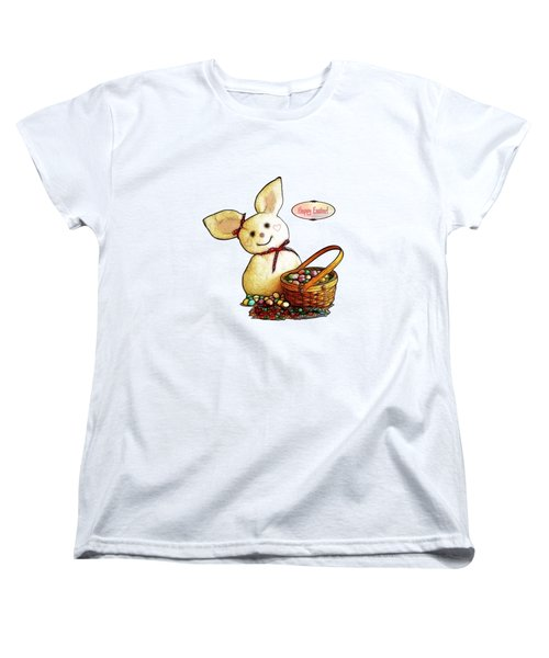 Bunny N Eggs Card Women's T-Shirt (Standard Cut) by Methune Hively