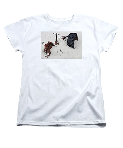 Women's T-Shirt (Standard Cut) featuring the photograph Buried Up To The Wheels by Stephen Mitchell
