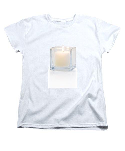 Burning Candle Side View 20 Degree Women's T-Shirt (Standard Cut) by Atiketta Sangasaeng