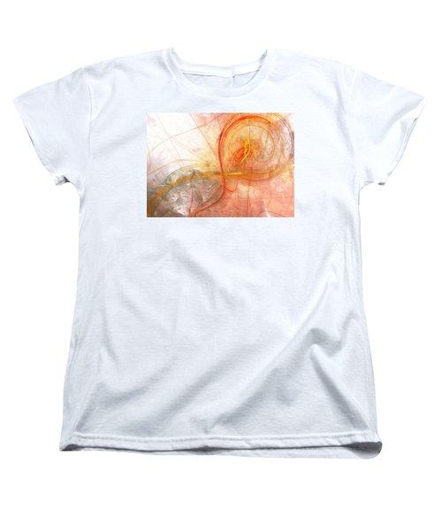 Burning Treble Clef Women's T-Shirt (Standard Cut) by Martin Capek