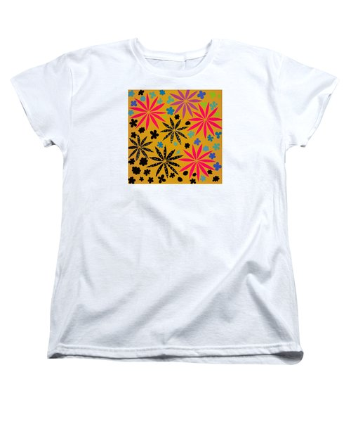 Women's T-Shirt (Standard Cut) featuring the mixed media Bursting Open by Gloria Rothrock