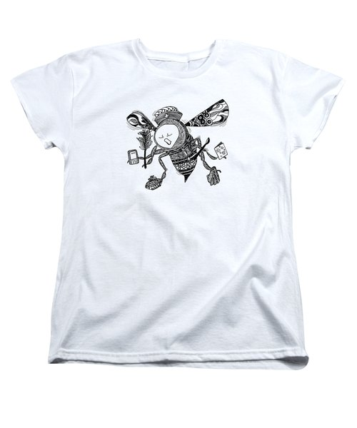 Busy Bee Women's T-Shirt (Standard Cut) by Jan Steinle