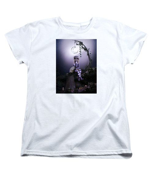 Women's T-Shirt (Standard Cut) featuring the digital art Busy Doing Nothing by Shanina Conway