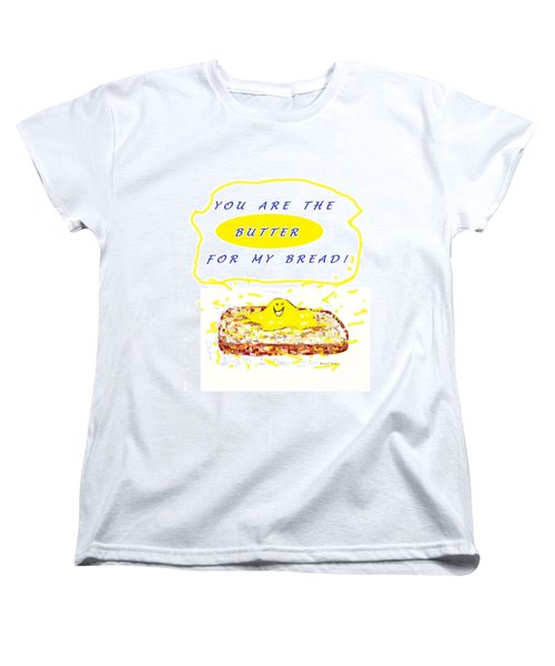 Women's T-Shirt (Standard Cut) featuring the drawing Butter For My Bread by Denise Fulmer