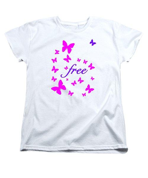 Butterflies Free Women's T-Shirt (Standard Cut)