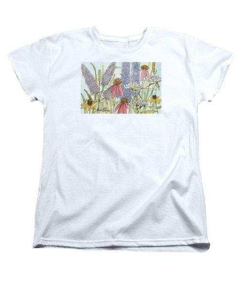 Butterfly Bush In Garden Women's T-Shirt (Standard Cut) by Laurie Rohner