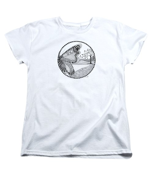 Women's T-Shirt (Standard Cut) featuring the drawing Butterfly Fantasy by Ana V Ramirez