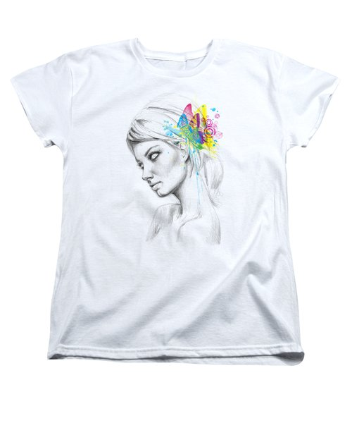 Butterfly Queen Women's T-Shirt (Standard Cut) by Olga Shvartsur