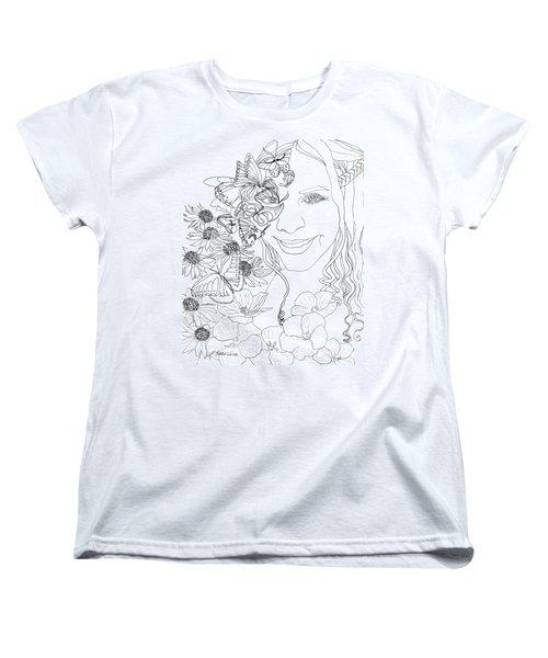 Butterfly Runner Women's T-Shirt (Standard Cut) by D Renee Wilson
