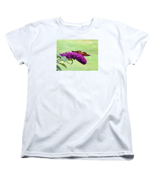 Women's T-Shirt (Standard Cut) featuring the photograph Butterfly Wings by Teresa Schomig