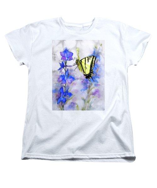 Butteryfly Delight Women's T-Shirt (Standard Cut) by Bonnie Rinier