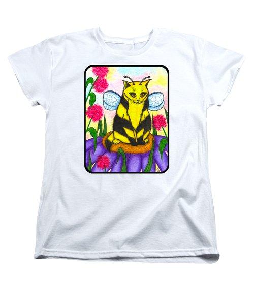 Buzz Bumble Bee Fairy Cat Women's T-Shirt (Standard Cut) by Carrie Hawks