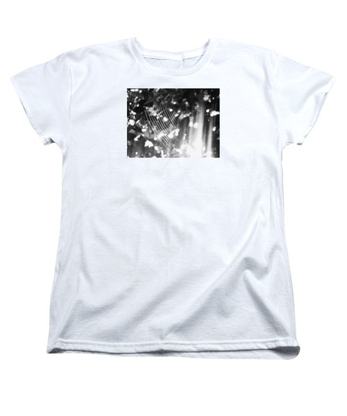 Women's T-Shirt (Standard Cut) featuring the photograph Bw Gossamer Glow by Megan Dirsa-DuBois