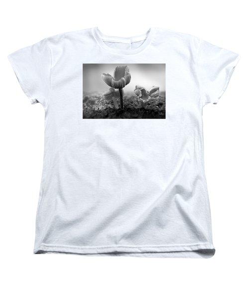 Bw Mushroom - 365- 232 Women's T-Shirt (Standard Cut) by Inge Riis McDonald
