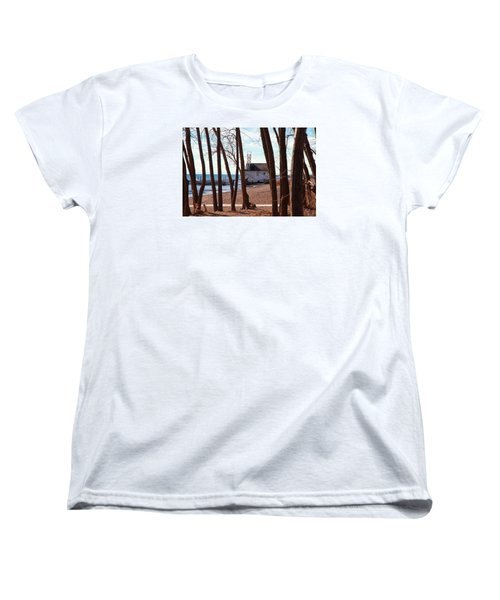 Women's T-Shirt (Standard Cut) featuring the photograph By The Lake by Valentino Visentini