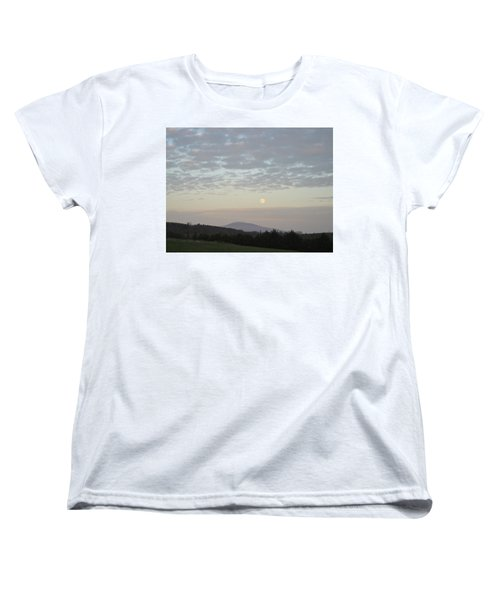 Women's T-Shirt (Standard Cut) featuring the photograph By The Rising Of The Moon by Suzanne Oesterling